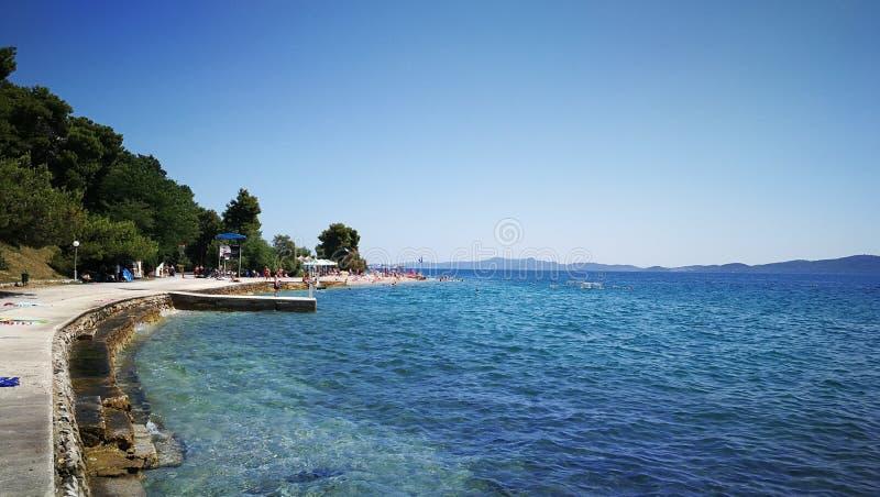 Meer in Zadar lizenzfreies stockfoto