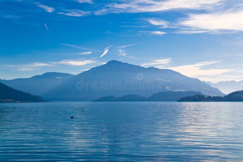 Meer Zug in Zwitserland royalty-vrije stock afbeelding