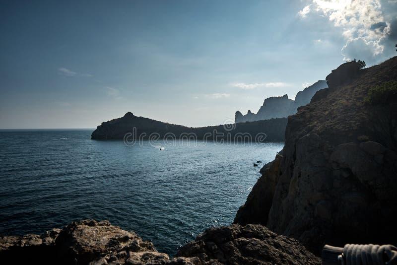 Meerblick in der Krim lizenzfreie stockfotografie
