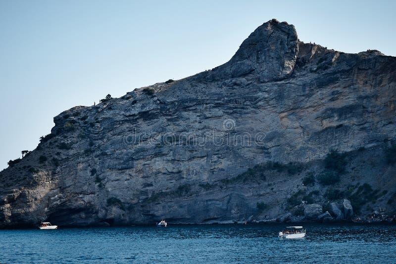 Meerblick in der Krim stockfoto