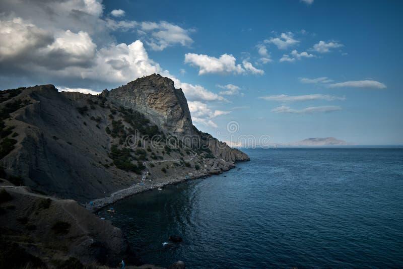 Meerblick in der Krim stockfotos