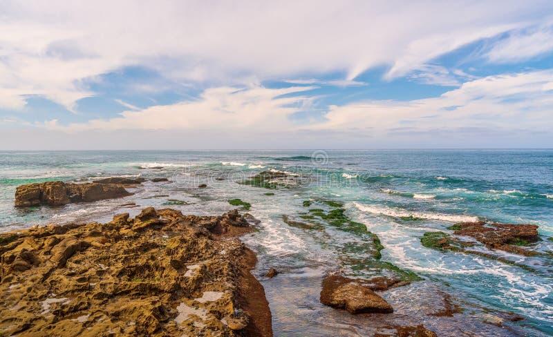 Meerblick in der Stadt von San Diego kalifornien USA stockfotografie