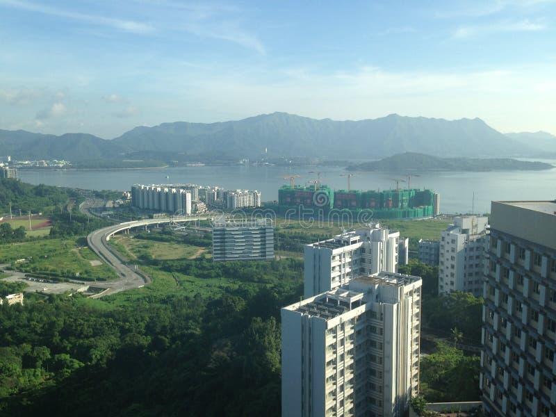 Meerblick in Hong Kong stockbild