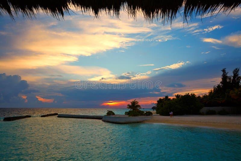 Meerblick, Vittaveli-Insel, Malediven lizenzfreie stockfotografie