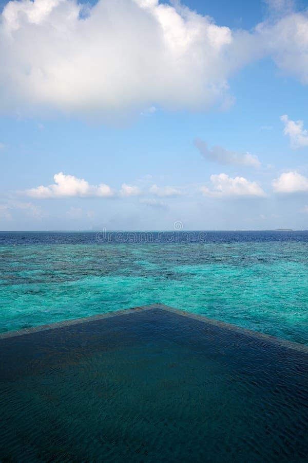 Meerblick von Vittaveli-Insel, Malediven lizenzfreie stockfotos