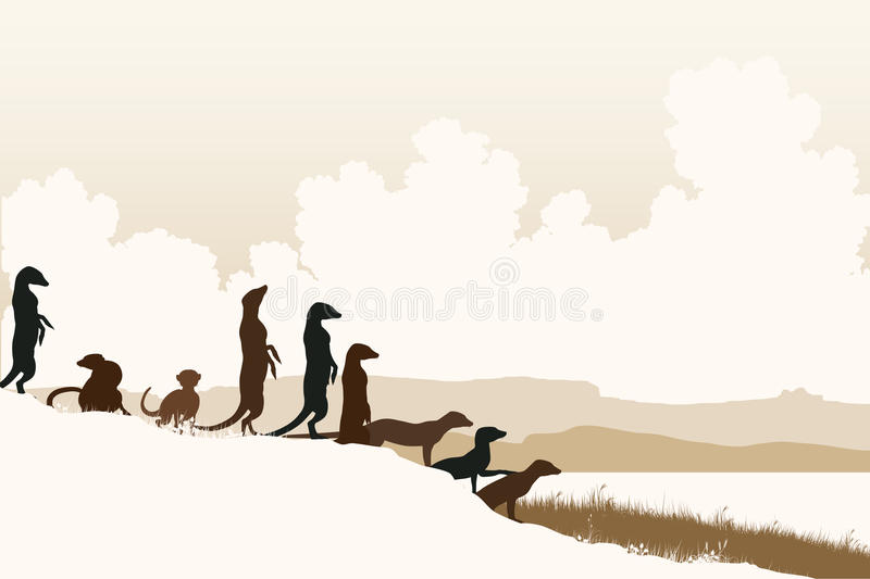 Download Meercat lookouts stock vector. Image of text, vector - 34183545