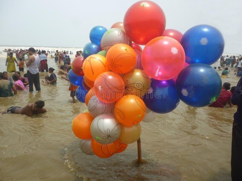 Meeres-Strand in der Farbe stockfotos
