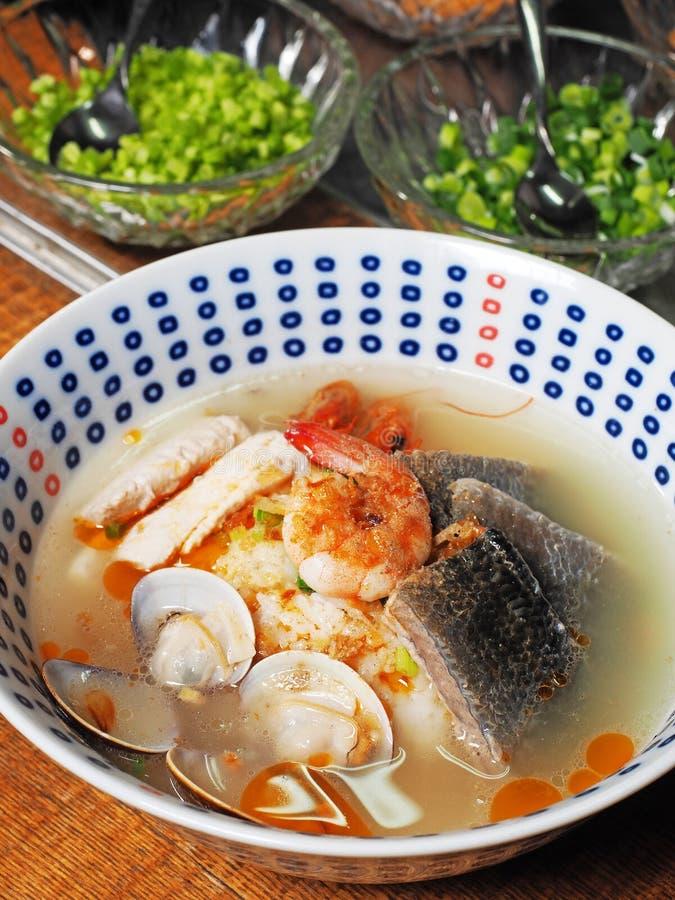Meeresfrüchte Congee stockfotos