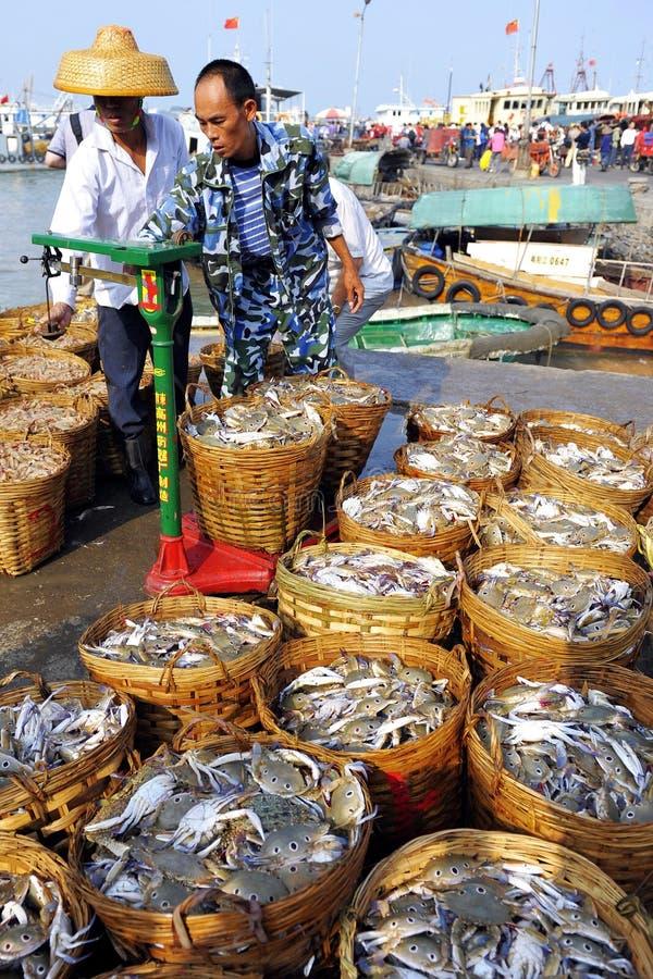 Meeresfrüchte-Geschäft stockfotografie