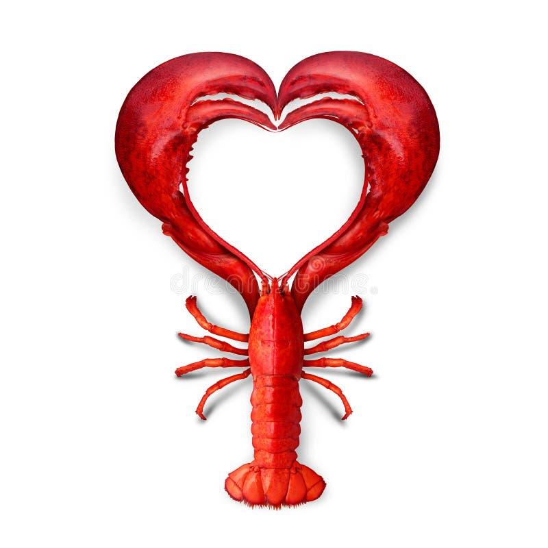 Meeresfrüchte-Liebe lizenzfreie abbildung