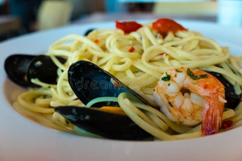 Meeresfrüchte Linguine stockfoto