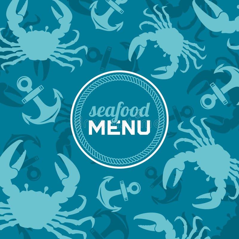 Meeresfrüchte-Menü 2 lizenzfreie abbildung