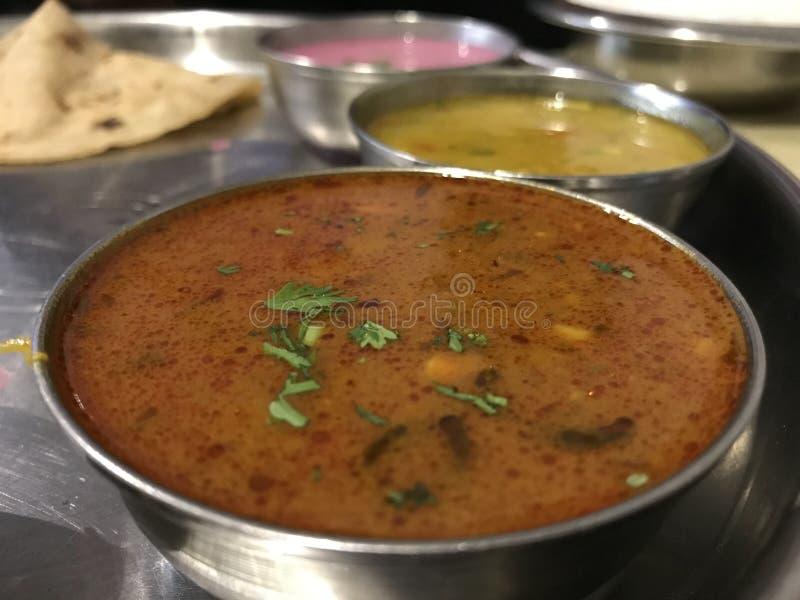 Meeresfrüchte Thali, Konkan-Küche stockfotos