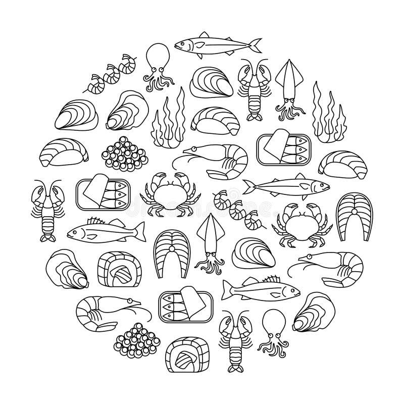 Meeresfrüchtegestaltungselement vektor abbildung