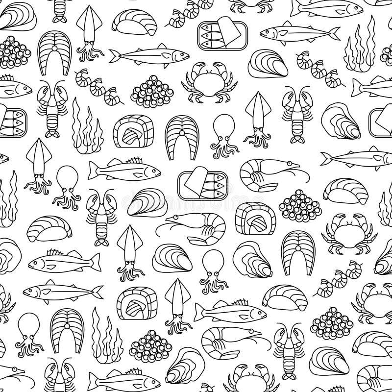 Meeresfrüchtemuster stock abbildung