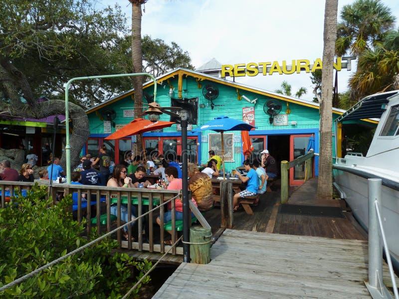 Meeresfrüchterestaurant auf der Küste stockbilder