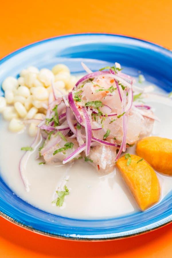 Meeresfr?chte ceviche, typischer Teller von Peru stockfoto