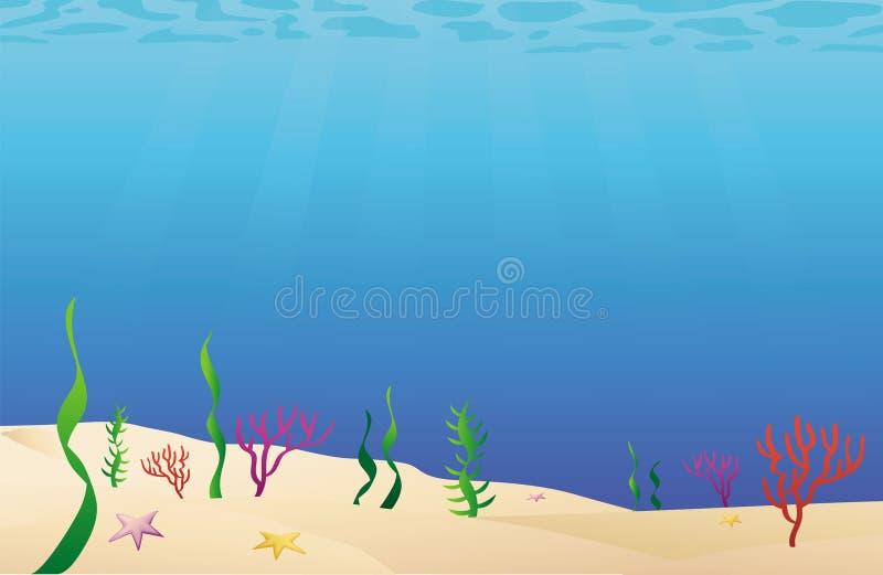 Meeresgrundseebett stock abbildung