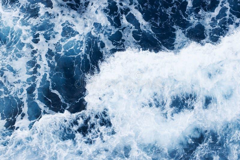 Meeresoberfläche von oben stockfotografie