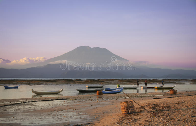 Meerespflanzelandwirte Nusa lembongan Bali Indonesien lizenzfreie stockfotografie