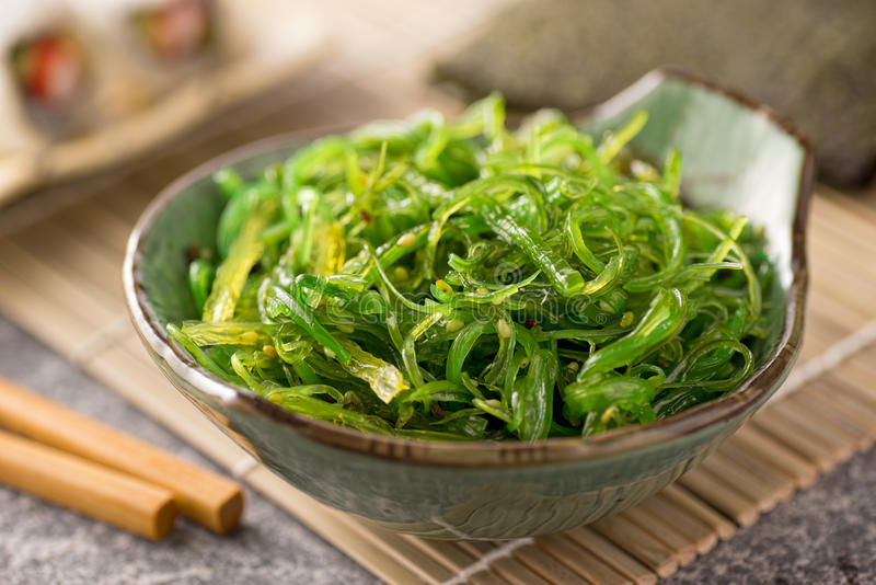 Meerespflanzen-Salat stockfoto