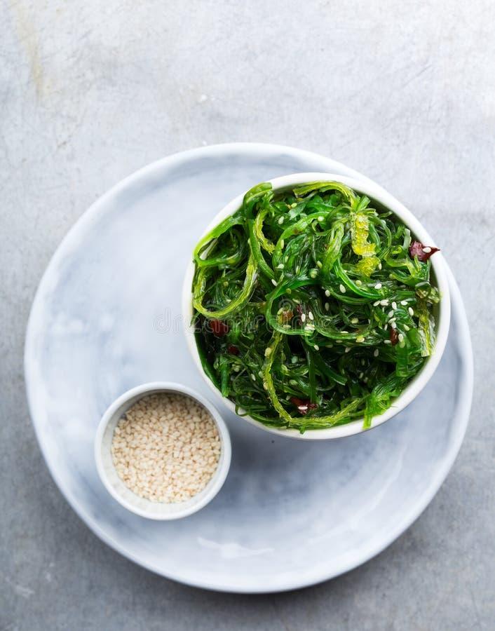 Meerespflanzen-Salat stockfotografie