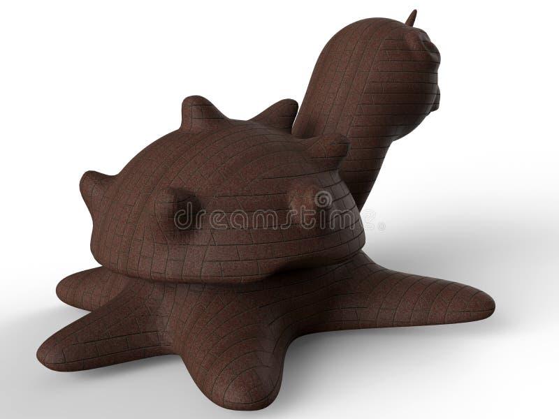 Meeresschildkröterückseite stock abbildung