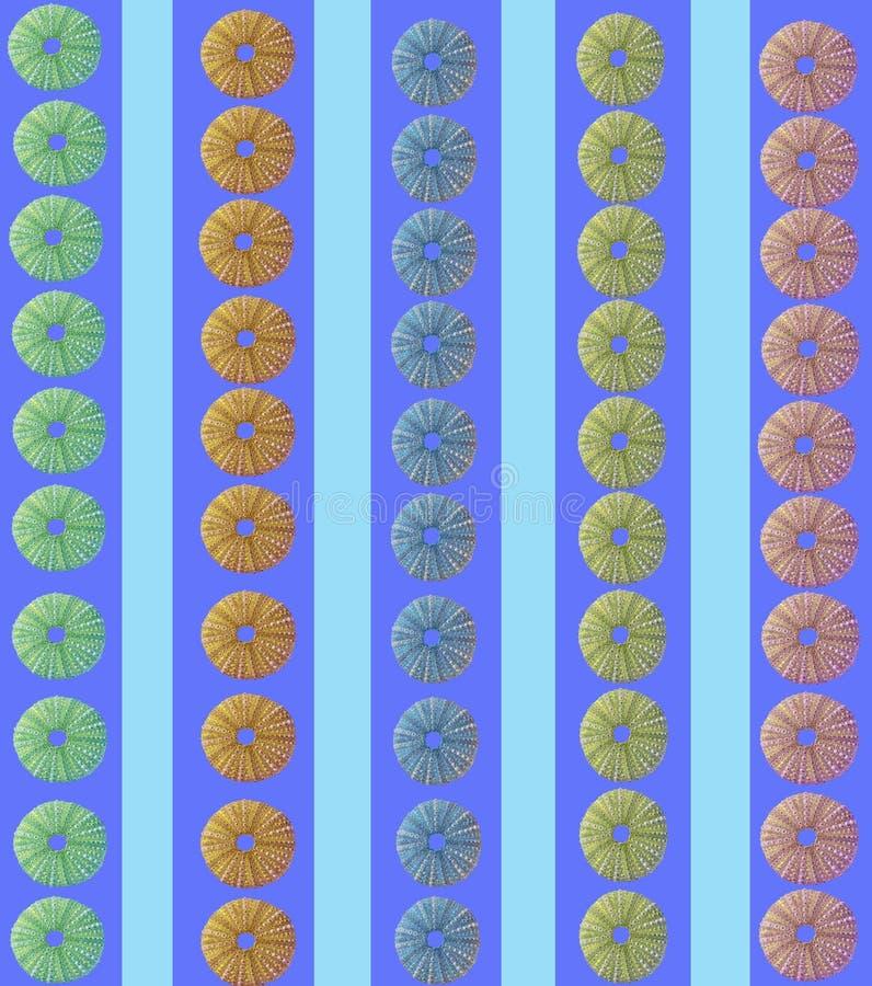 Meeresturchin-Streifendesign stock abbildung