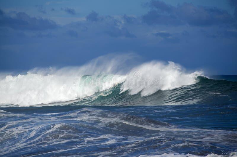 Meereswoge-Brechen stockfotografie