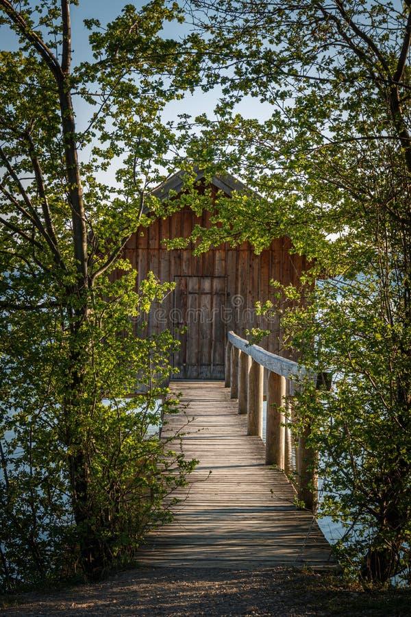 Meerhuis in Stegen am Ammersee in Beieren Duitsland stock afbeeldingen