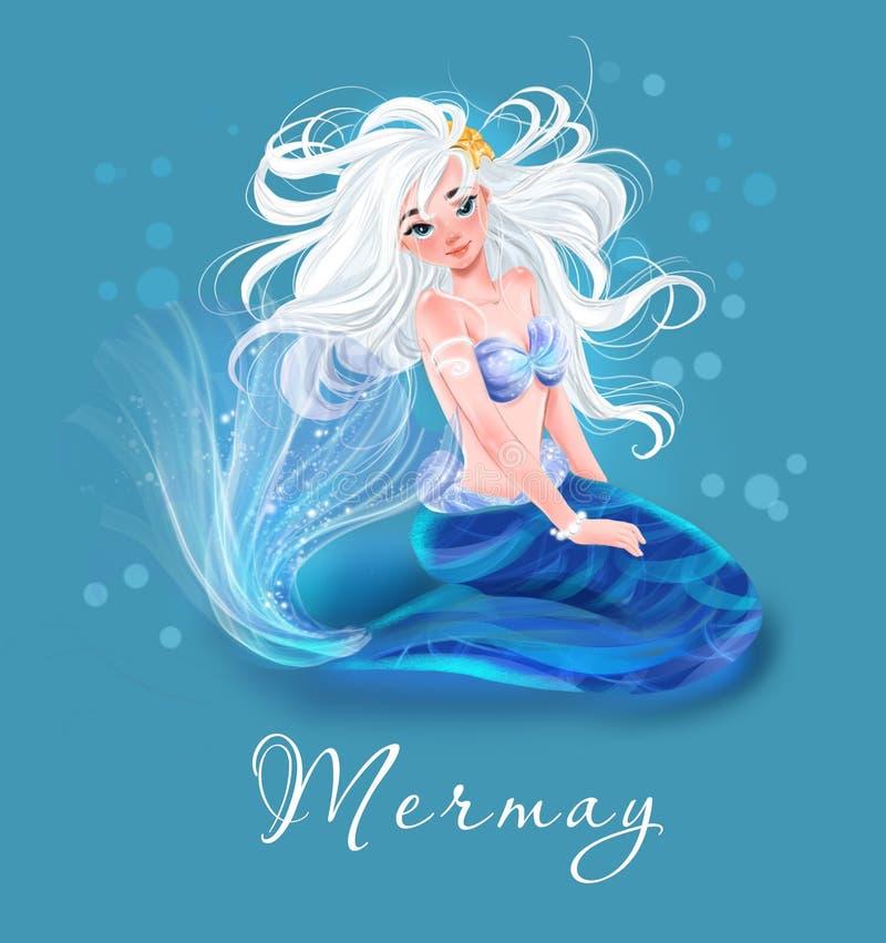 Meerjungfrau-Illustrator stock abbildung