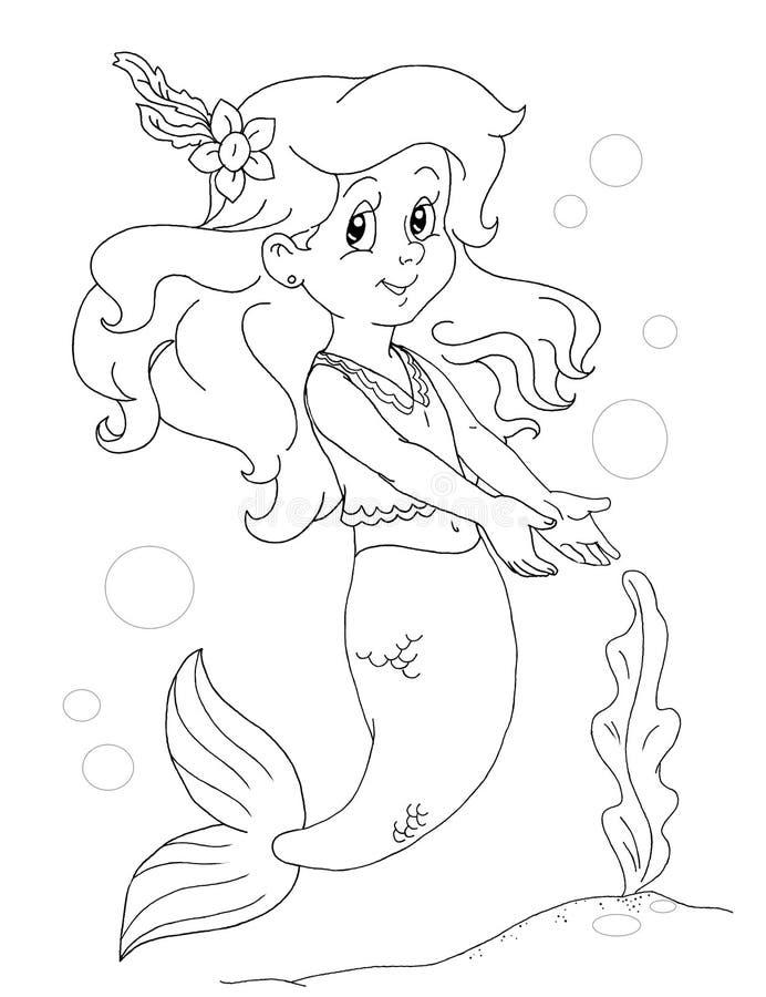 Meerjungfrau-Mädchen stock abbildung