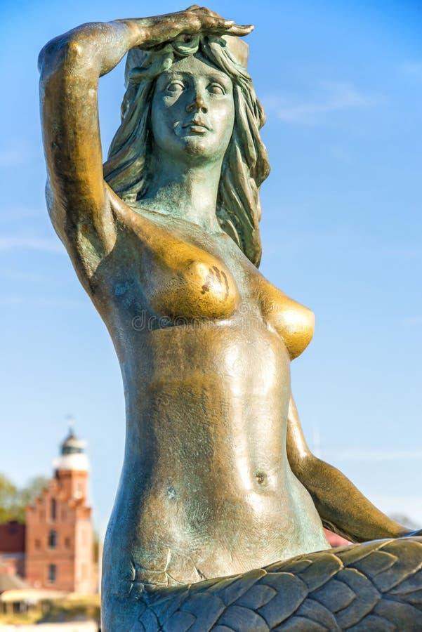 Meerjungfrau von Ustka, Stolpmuende, Polen lizenzfreies stockbild
