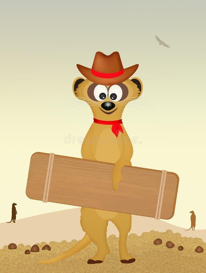Meerkat in de wildernis royalty-vrije illustratie