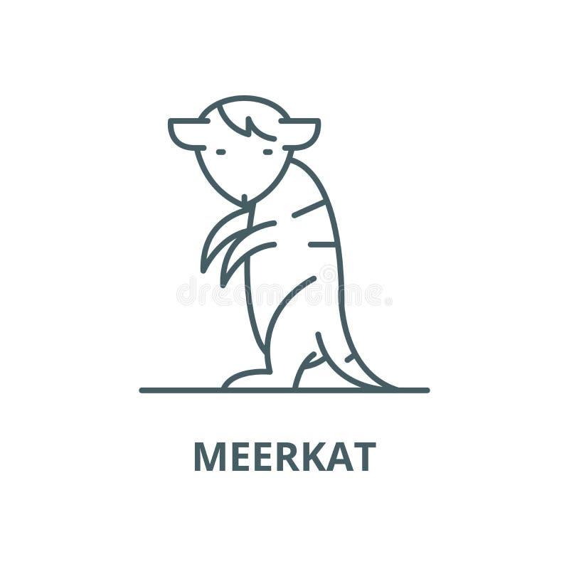 Meerkat wektoru linii ikona, liniowy poj?cie, konturu znak, symbol ilustracja wektor