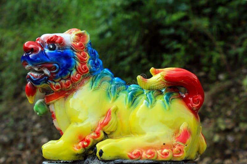 Meerkleurige leeuwensteen, Fujian, China royalty-vrije stock afbeelding