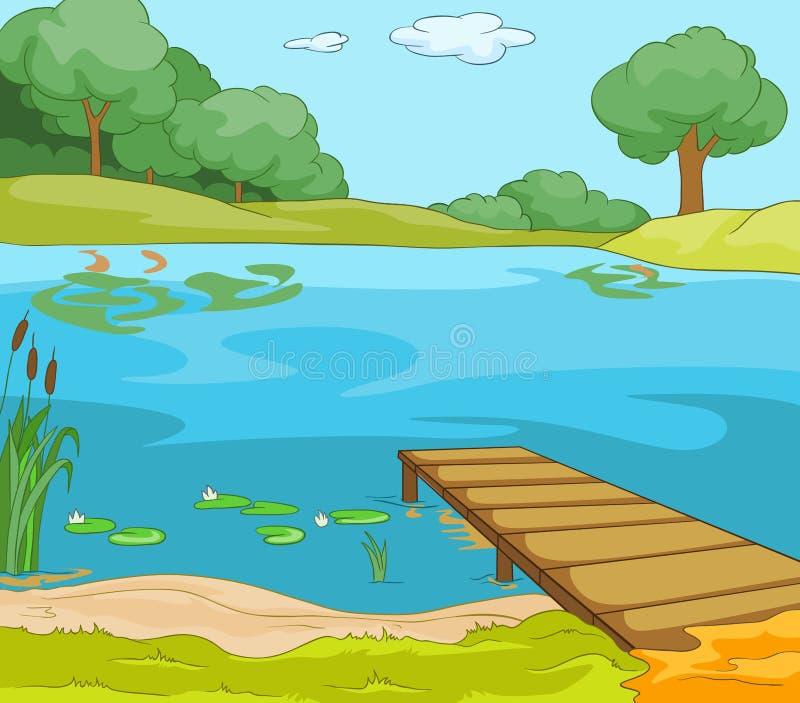 Meerkust stock illustratie