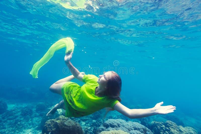 Meermin onderwater stock foto's