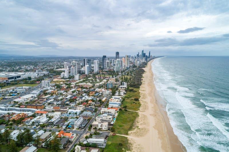 Meerminstrand in Gold Coast royalty-vrije stock afbeeldingen