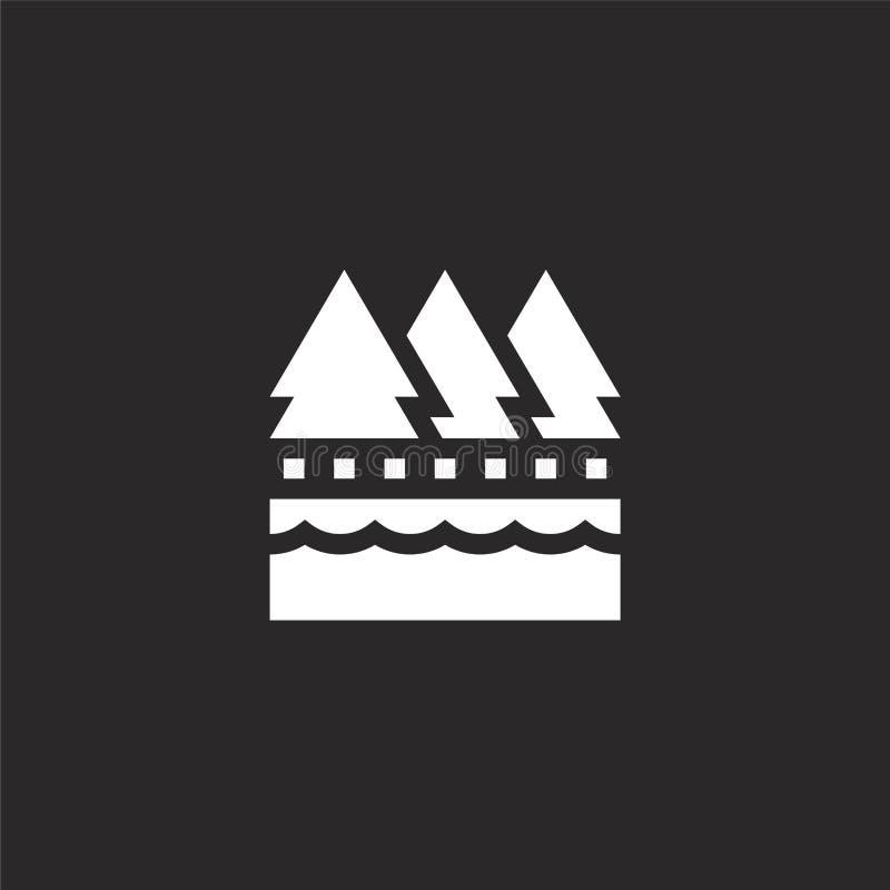 Meerpictogram Gevuld meerpictogram voor websiteontwerp en mobiel, app ontwikkeling meerpictogram van gevuld bed - en - ontbijtinz stock illustratie