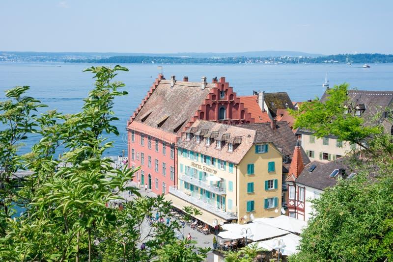 Meersburg chez le Lac de Constance images libres de droits