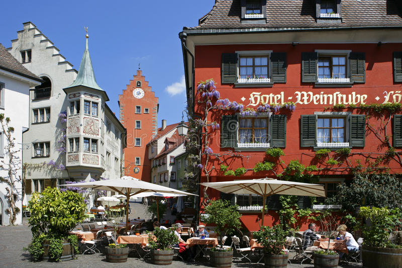 Meersburg na Jeziornym Constance, Niemcy zdjęcia stock