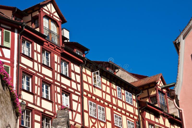 Meersburg no lago Constance, Alemanha imagem de stock