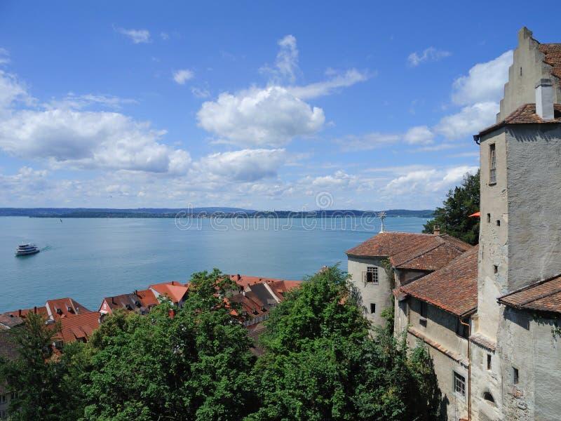 Meersburg um lago Constance foto de stock
