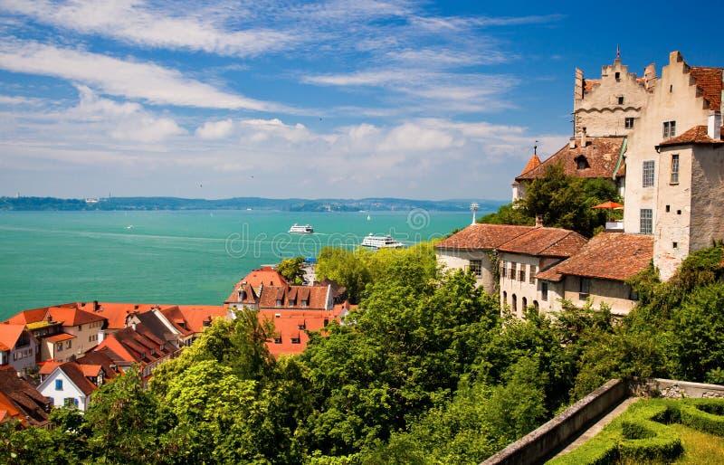 Meersburg y lago Constance foto de archivo libre de regalías