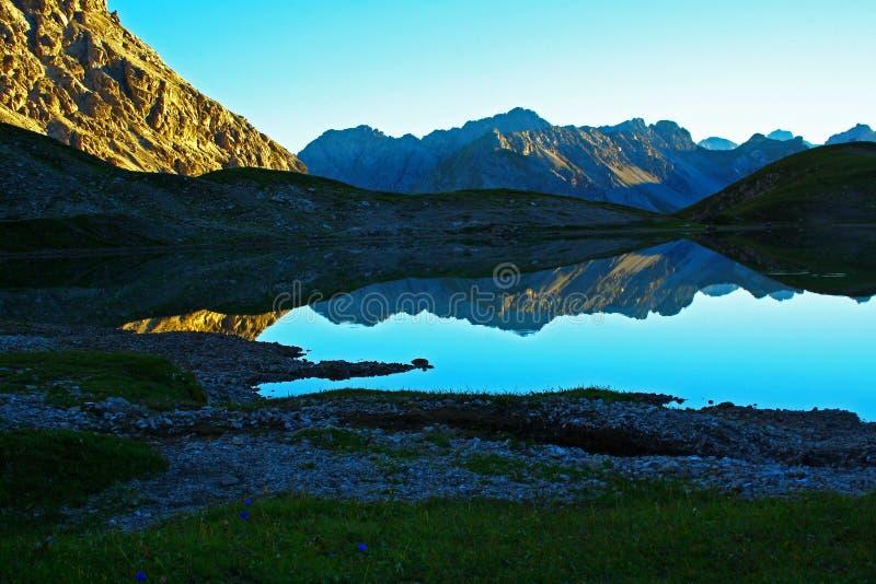 meersteinsee Tirol royalty-vrije stock foto