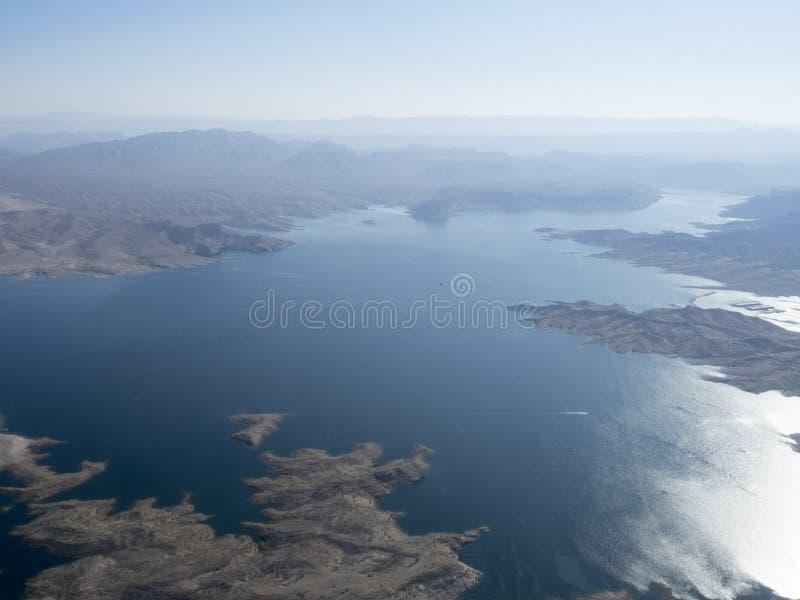 Meerweide, Nevada, de V.S. van een helikopter worden gezien die royalty-vrije stock afbeelding