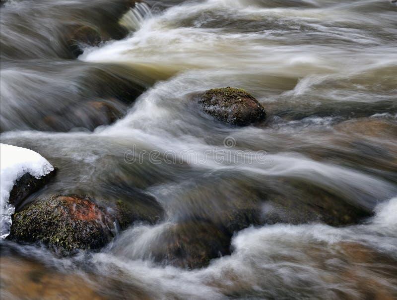 Meeslepend water stock fotografie