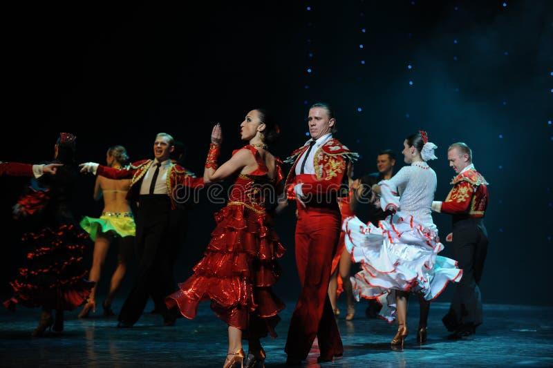 Meespelend gordijn de vraag-de werelddans van Oostenrijk royalty-vrije stock foto's