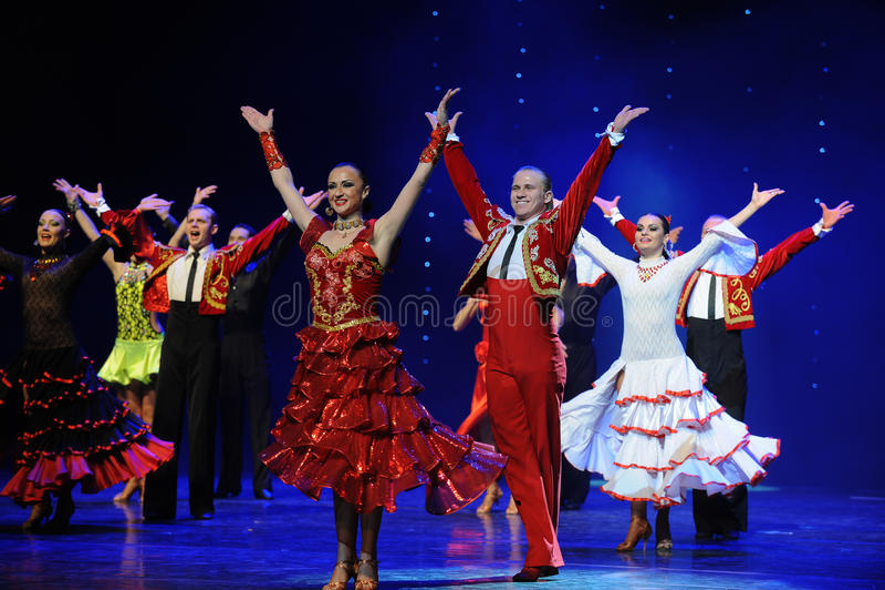 Meespelend gordijn de vraag-de werelddans van Oostenrijk stock foto's